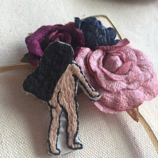C'est trop Mignon\\ hand-made embroidery* bareback back embroidery needle