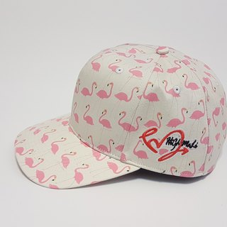 Follow Your Love Printed Baseball Cap Hot Red Crane (White) #礼物#Valentine