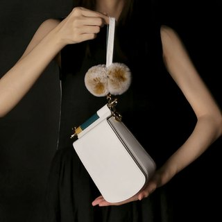 White leather candy color mobile phone small square bag cross-body bag with side backpack can be loaded with iPhone X