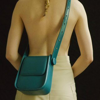 Dream full | blue square saddle bag cross-body bag leather suede leather shoulder bag retro simple