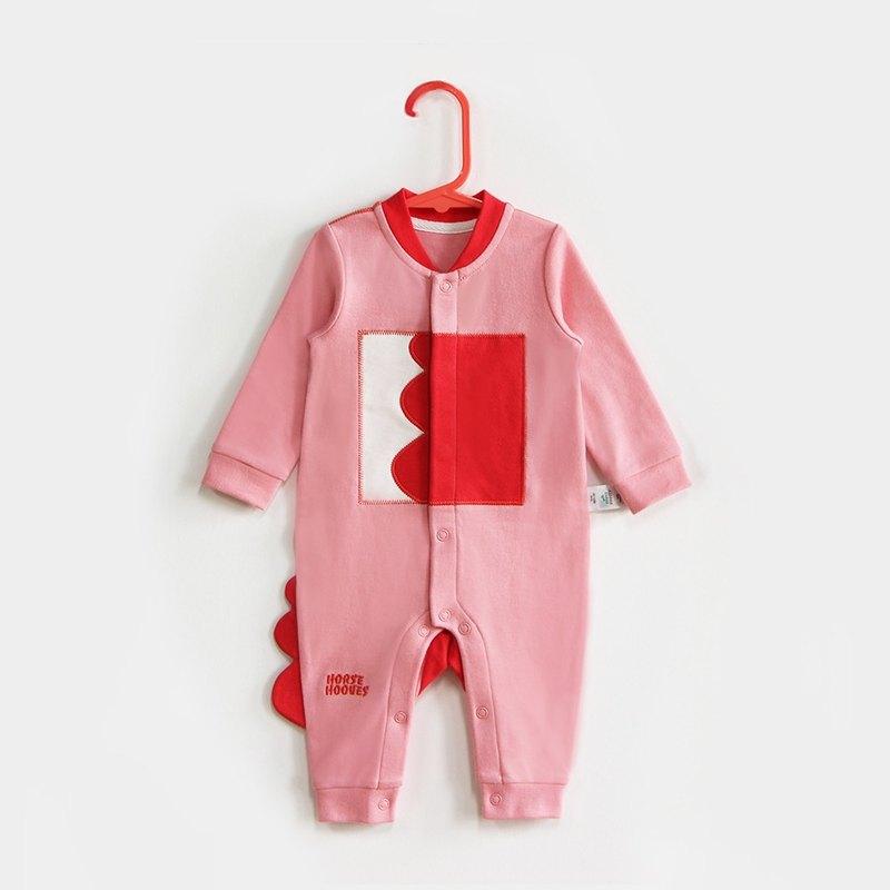 純棉嬰兒新生兒寶寶內衣爬服連體衣可愛粉色0-6月