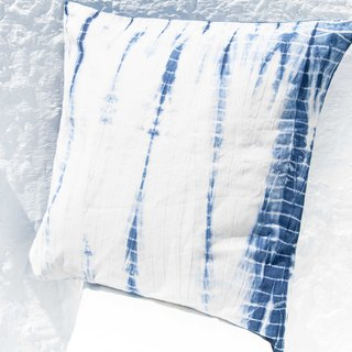 Blue dyed pillowcase / cotton pillowcase / printed pillowcase / indigo blue dyed pillowcase - blue dyed bamboo forest