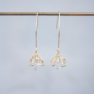 innocence series-18K gold colour dandelion seeds<once upon a time*earring>