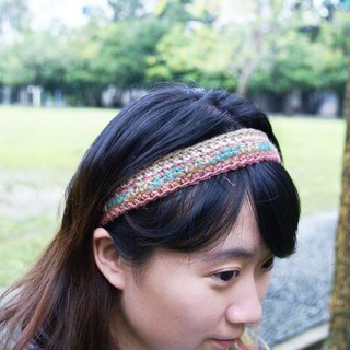 【Limited Edition】Good Afternoon! Pink Handmade Woven Hair Band