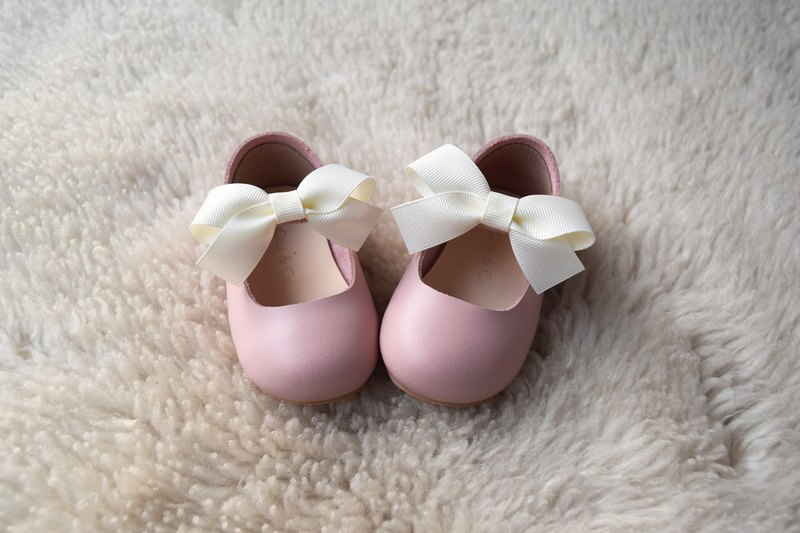 4dd846d389286 Pastel Pink Toddler Girl Shoes, Baby Girl Shoes, Leather Baby Shoes