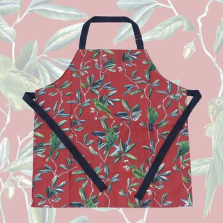 PARAKEET red apron