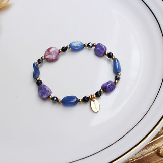 <Slow and warm natural stone series>C1136 Purple Dragon Crystal Blue Crystal Bracelet