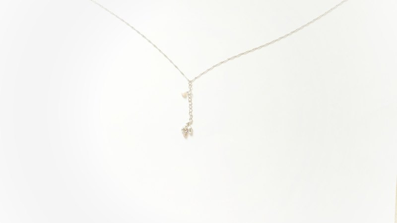 Limited time offer ancient silver stone fruit freshwater pearl champagne crystal clavicle necklace simple light jewelry