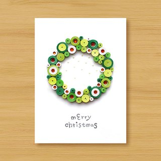 Handmade roll paper stereo card _ Cute bubble Christmas blessing wreath _A ..... Christmas card