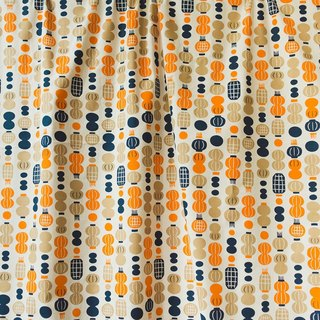 Printed Fabric / Milly Collection / Paper Lantern / Orange & Blue