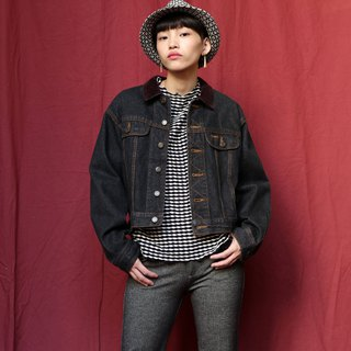 Pumpkin Vintage. Ancient suede collar denim jacket