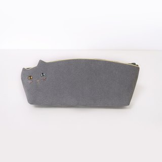 Cat pen case gray [MTO]