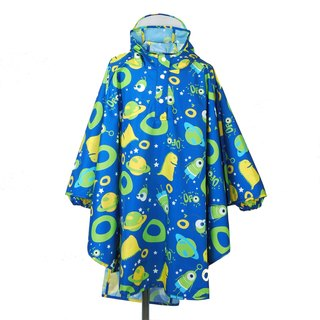 Waterproof breathable printed children raincoat <Alien world>