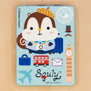 PU Leather Mirror (squirrel Squly and penguin Kily Travel Theme) - G002SQH