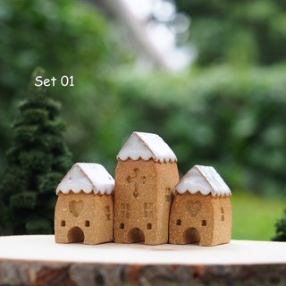 Ceramic House- Set of  3