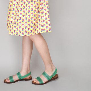 1692 Green Tree Handmade Sandals