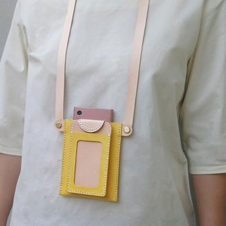 Ear-open mobile phone bag and identification card set/document set