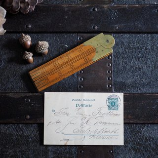 British antique wooden folding ruler B section of the figure