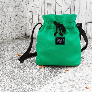 Extremely simple canvas bucket bag - Difeni green carry bag / cross body bag / shoulder bag / beam bag