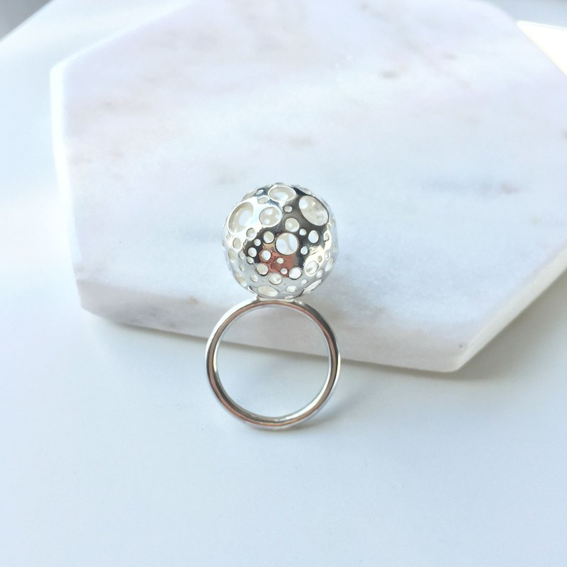 Snow Ball Silver Ring