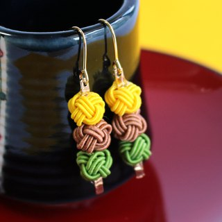 japanese style pierce earring / mizuhiki / japan / accessory / sweets