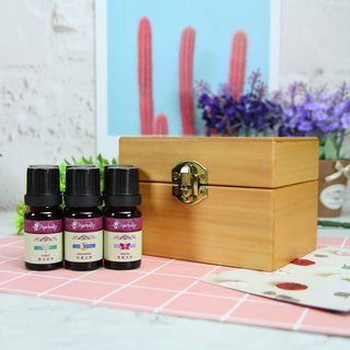 [Herbal Truth] Six-grid wooden box compound essential oil group (10ml x6)