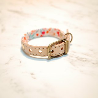 Dog big cat collar S number spring friendship small floral planting skin with bells can add purchase tag