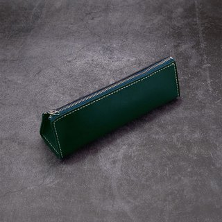 Triangular Zip Pencil Case (Landscape)。Leather Stitching Pack。BSP093
