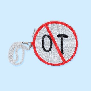 Bead embroidery Hate OT coins bag