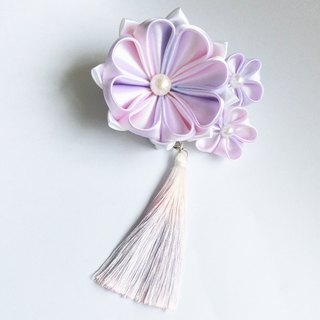 Pink Purple Brooch with Hairpin