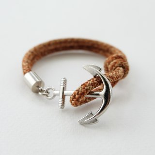 Anchor bracelet / brown paracord
