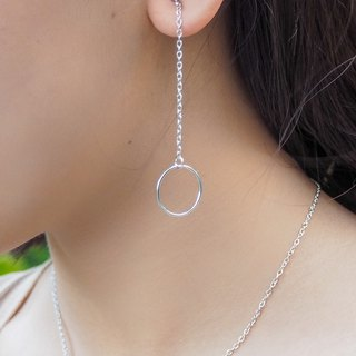 Sterling silver circle dangle earring