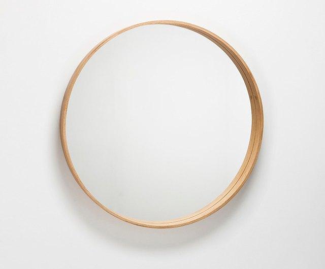 The Mirror Wooden Round L, Round Wood Frame Mirror Uk