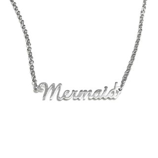 Custom name necklace hand wringting stlye