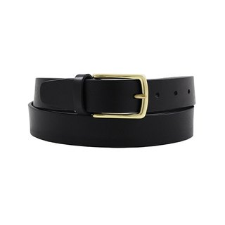 LAPELI │ Narrow Edition - Plain Gentleman Belt Black