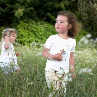 100% Organic Cotton Alpaca Print Children's Short Sleeve Top