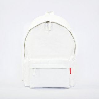 Waterproof Heavy Canvas Backpack ( 13.5 / 15.5 Notebook ) / White