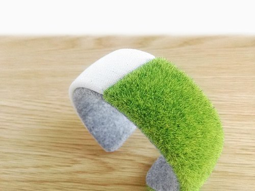 grass bracelet cuff, Kawaii lawn bangle,Green bracelet, Gift for women, pretty bangle, cute bangle, 3d printed jewelry, non metal Minimal