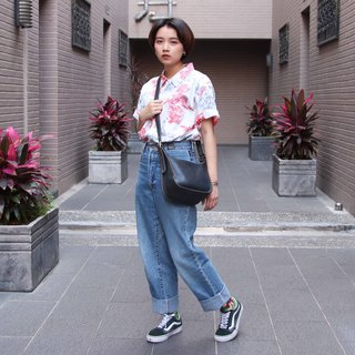 Tsubasa.Y Vintage House Vintage Coach bag 002, leather bag side backpack antique bag