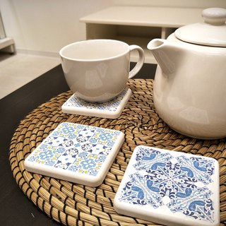 [MBM] mix and match village MBM tile diatomaceous earth coaster set (a box of 5 in)