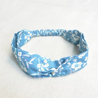 Elasticated Band - Blue Small Floral