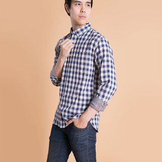 (SIZE S, M) HUMMINGBIRD // navy check // men slim fit