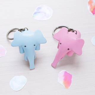 ** Graduation Gift ** Handmade Leather Couple Elephant Key Ring | Customization / Detective Room / Wedding Small Things / Exchange Gifts / Valentine's Day Gifts / Christmas Gifts