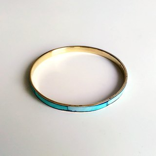 [Ancient Pieces] Retro Blue Stained Natural Pearl Bean Brass • Hand Ring