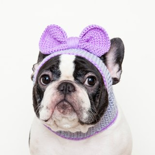 Can be a big bow styling cap - pink purple