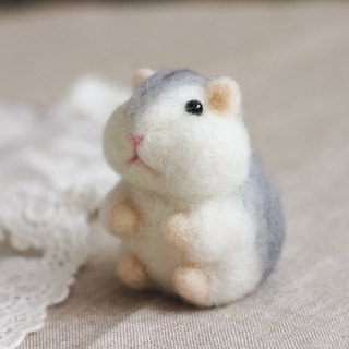 (with video teaching) fat hamster tumbler wool felt kit
