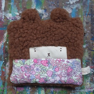 Duo Rabbit Coin Purse - Purple Strawberry Paradise - Dark Brown Hair - 2018113