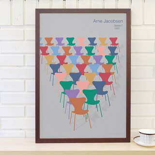 Nordic classic furniture poster Arne Jacobsen 7 original customizable hanging painting without frame