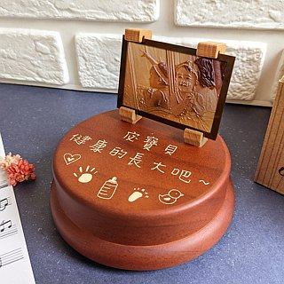 [Memorial Gift] Photo Stereo Engraving Customized Music Box