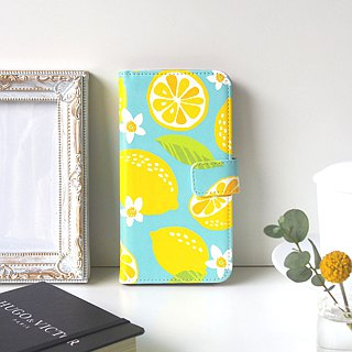 Notebook type phone case - Lemon -
